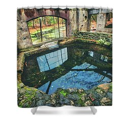 Paradise Springs- Spring House - Kettle Moraine State Forest Shower Curtain by Jennifer Rondinelli Reilly - Fine Art Photography