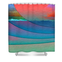 Parallel Dimensions - Submerged Shower Curtain by Serge Averbukh