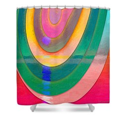 Parallel Dimensions - The Descent Shower Curtain by Serge Averbukh