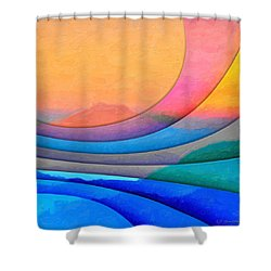 Parallel Dimensions - The Sacred Mountain Shower Curtain by Serge Averbukh