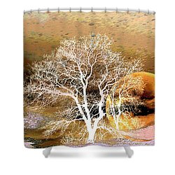 Shower Curtain featuring the photograph Parallel Worlds by Joyce Dickens