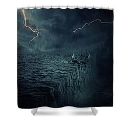 Parallelism Shower Curtain by Psycho Shadow