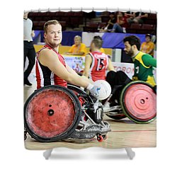 Parapan Games Wheelchair Rugby Shower Curtain