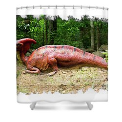 Parasaurolophus Shower Curtain