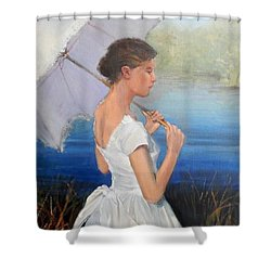 Parasol Shower Curtain by Ron Wilson
