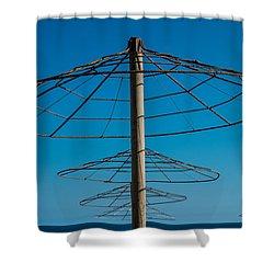 Parasols Shower Curtain by Piet Scholten