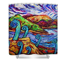 Paratawhiti At Oruru River Shower Curtain