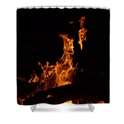 Pareidolia Fire Shower Curtain