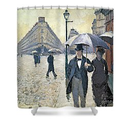 Paris A Rainy Day Shower Curtain by Gustave Caillebotte