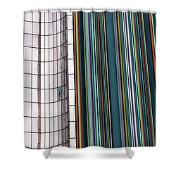 Paris Abstract Shower Curtain