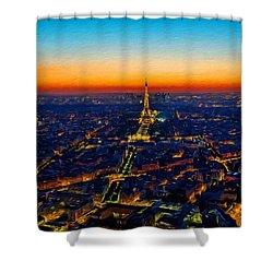 Paris After Sunset Shower Curtain