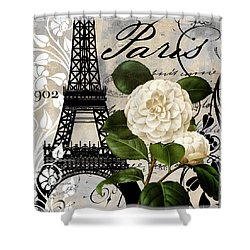 Paris Blanc I Shower Curtain by Mindy Sommers