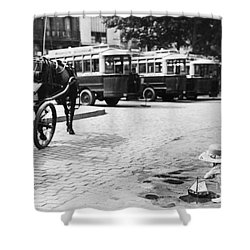 Paris: Boulevard De Clichy Shower Curtain by Granger