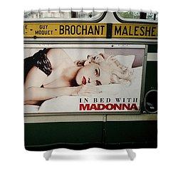 Paris Bus Shower Curtain