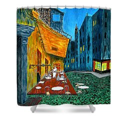 Paris Cafe Shower Curtain by Irving Starr