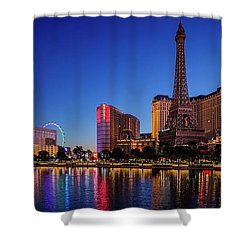 Paris Casino At Dawn 2 To 1 Ratio Shower Curtain
