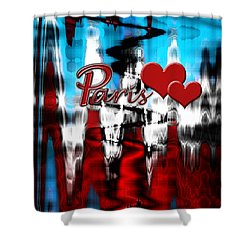 Paris Shower Curtain by Cherie Duran