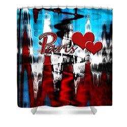 Shower Curtain featuring the photograph Paris by Cherie Duran