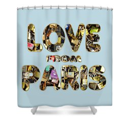 Shower Curtain featuring the painting Paris City Of Love And Lovelocks by Georgeta Blanaru