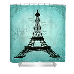 Paris Collage Shower Curtain