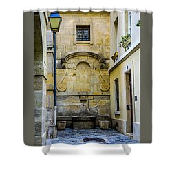 Paris Corner Le Marais Shower Curtain
