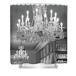 Chandelier shower curtains fine art america paris crystal chandeliers repetto ballet shop chandelier wall decor paris chandelier wall decor shower curtain aloadofball Images