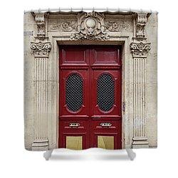 Paris Doors No. 17 - Paris, France Shower Curtain