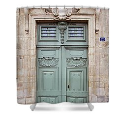Paris Doors No. 29 - Paris, France Shower Curtain