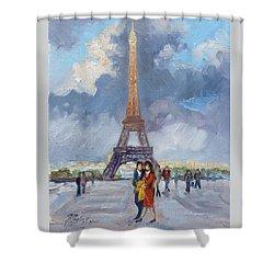 Paris Eiffel Tower Shower Curtain by Irek Szelag