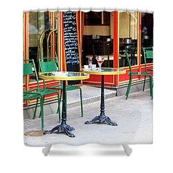 Paris Empty Cafe Shower Curtain
