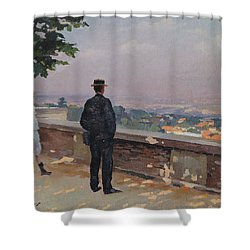 Paris From The Observatory At Meudon Shower Curtain by Jules Ernest Renoux