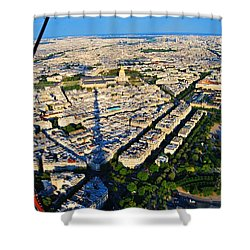 Paris From Tour Eiffel Shower Curtain