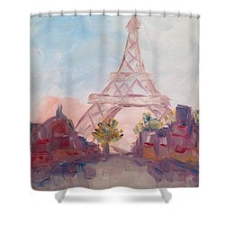 Paris In Pastel Shower Curtain