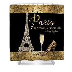 Paris Is Always A Good Idea - Audrey Hepburn Shower Curtain