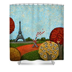 Paris Je T Aime Shower Curtain