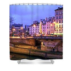 Paris Lights At Night Shower Curtain