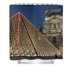 Paris Louvre Shower Curtain by Juli Scalzi