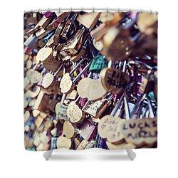 Paris Love Locks Shower Curtain by Melanie Alexandra Price