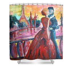 Paris Lovers Shower Curtain