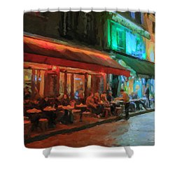 Paris Night Shower Curtain