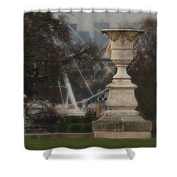 Paris Park Shower Curtain by Katie Wing Vigil