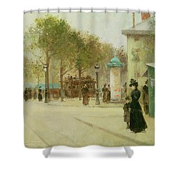 Paris Shower Curtain by Paul Cornoyer