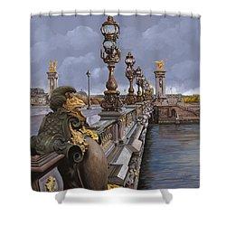 Paris-pont Alexandre IIi Shower Curtain by Guido Borelli