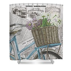 Paris Ride 1 Shower Curtain by Debbie DeWitt