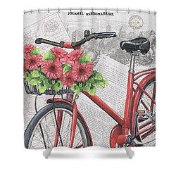 Paris Ride 2 Shower Curtain by Debbie DeWitt