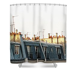 Paris Rooftops Shower Curtain