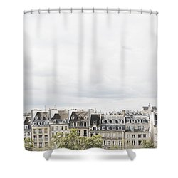 Paris Rooftops View From Centre Pompidou Shower Curtain