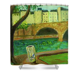Paris Rubbish Shower Curtain