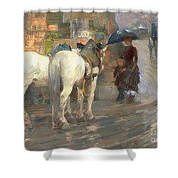 Paris Street Scene Shower Curtain by Childe Hassam