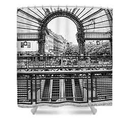 Shower Curtain featuring the photograph Paris Subway Station by Dave Beckerman